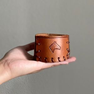 Handmade Leather Horse Containers